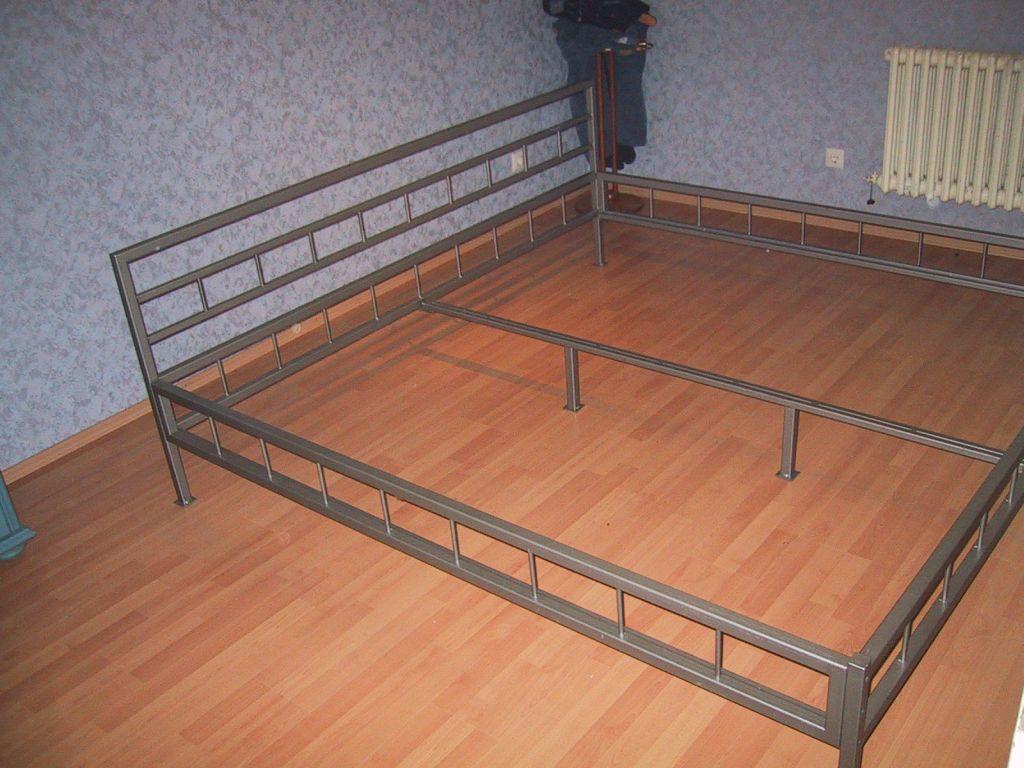 Mein Bett Eigenbau Aus Stahl